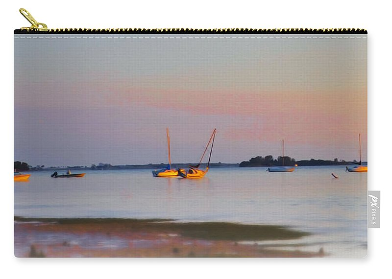 Low Carry-all Pouch featuring the photograph Low Tide At Crystal Beach by Bill Cannon