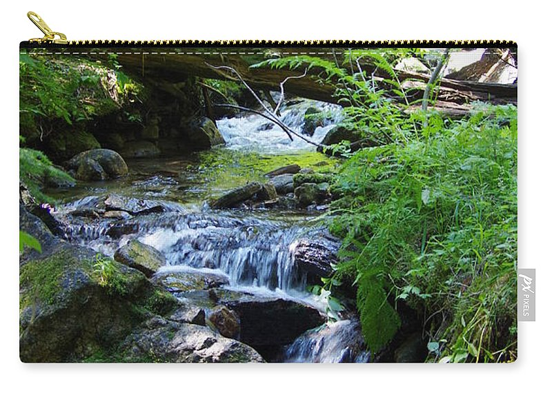 Water Falls Carry-all Pouch featuring the photograph Lower Granite Falls 2 by Mike Wheeler