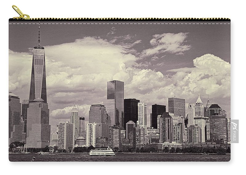 Manhattan Carry-all Pouch featuring the photograph Lower Manhattan Skyline 2 by Allen Beatty