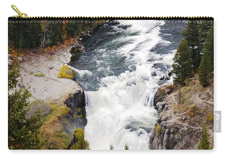Waterfall Carry-all Pouch featuring the photograph Lower Mesa by Deanna Cagle