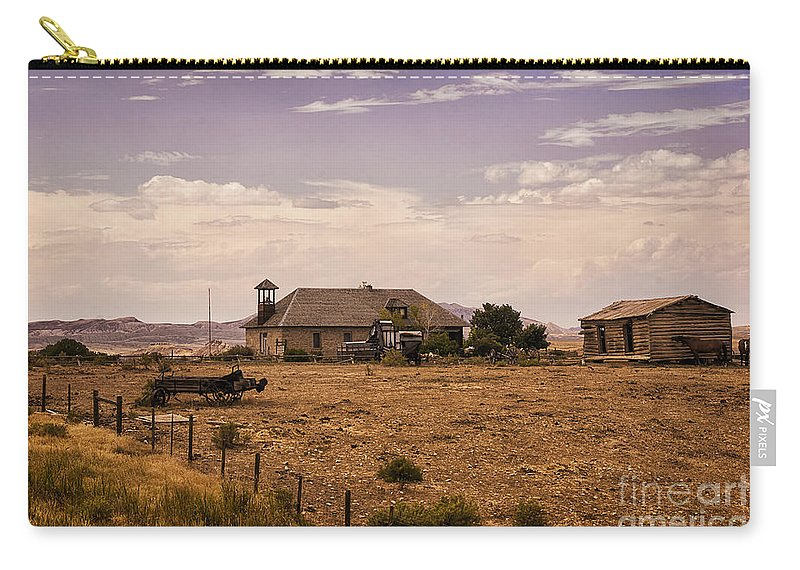 Lower Shell School House Carry-all Pouch featuring the photograph Lower Shell School House by Priscilla Burgers