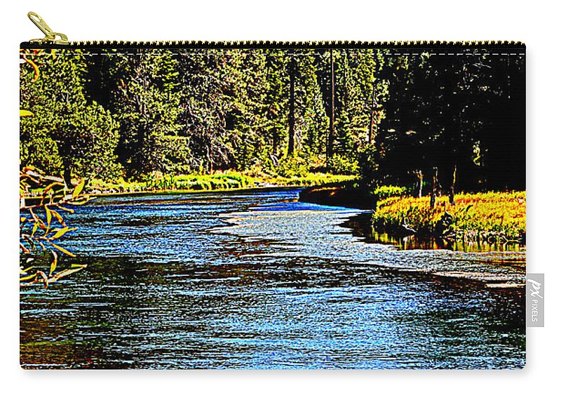Rivers Carry-all Pouch featuring the photograph Lower Truckee River by Lynn Bawden