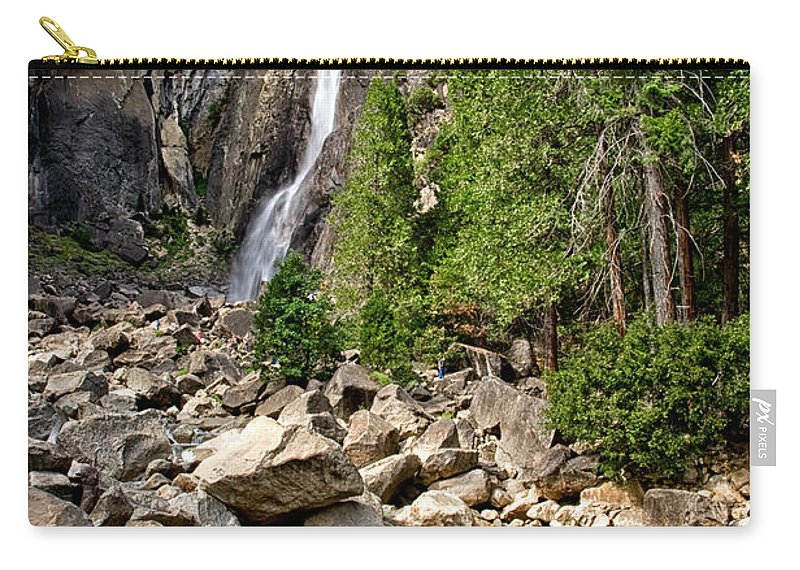Water Carry-all Pouch featuring the photograph Lower Yosemite Falls by Cat Connor