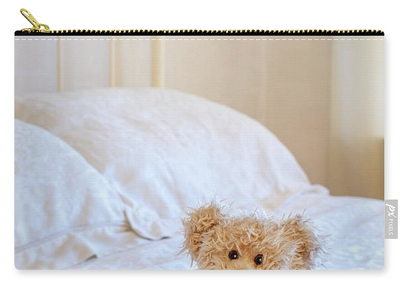 Teddy Carry-all Pouch featuring the photograph Lttle Bear by Amanda Elwell