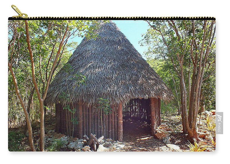 Lucayan Hut Exhibit 1 Carry All Pouch For Sale By Duane