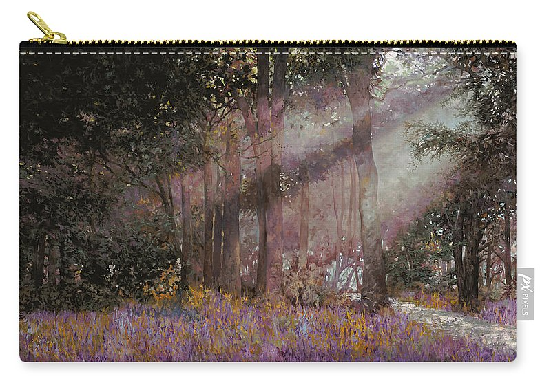 Wood Carry-all Pouch featuring the painting Luci by Guido Borelli
