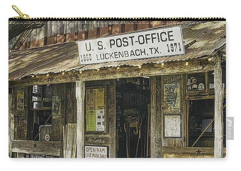 Luckenbach Carry-all Pouch featuring the photograph Luckenbach by Scott Norris