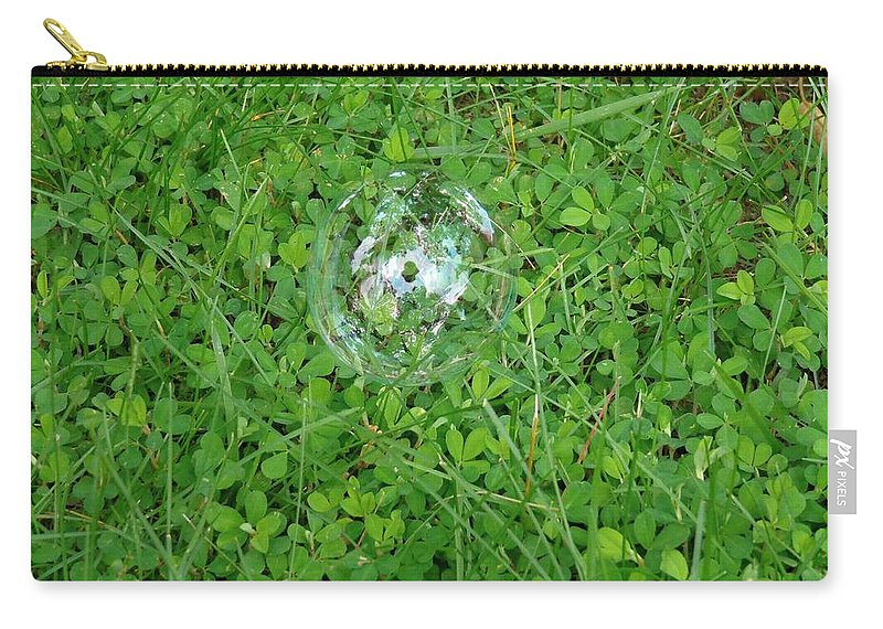 Shamrocks Carry-all Pouch featuring the photograph Lucky Bubble by Jannice Walker