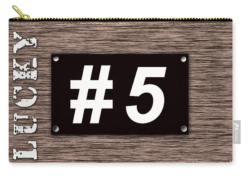 Lucky Number 5 Carry-all Pouch