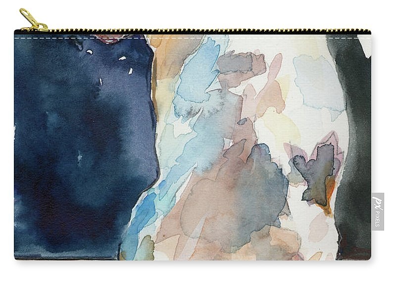 Labrador Retriever Carry-all Pouch featuring the painting Lucy Moon by Molly Poole