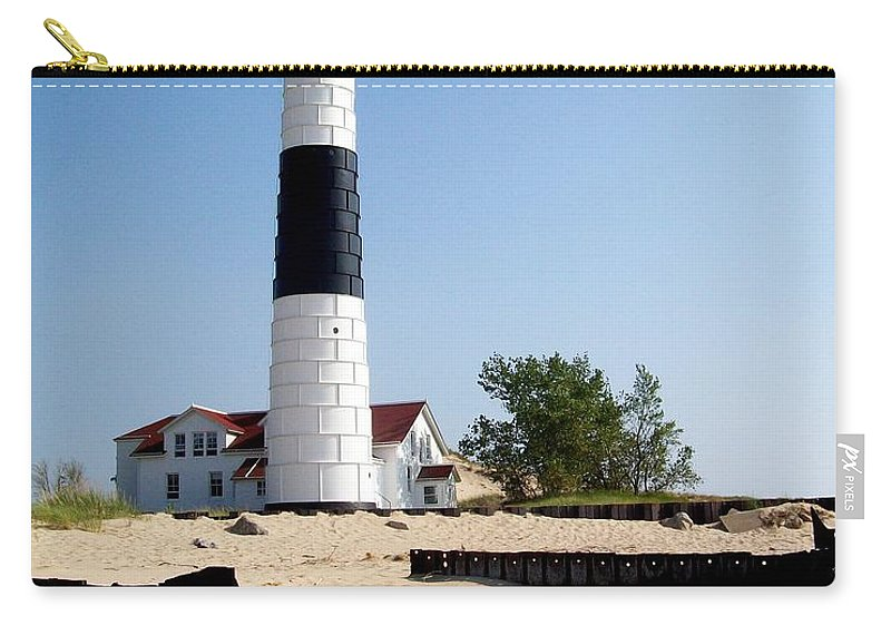 Lighthouse Carry-all Pouch featuring the photograph Ludington Michigan's Big Sable Lighthouse by Michelle Calkins