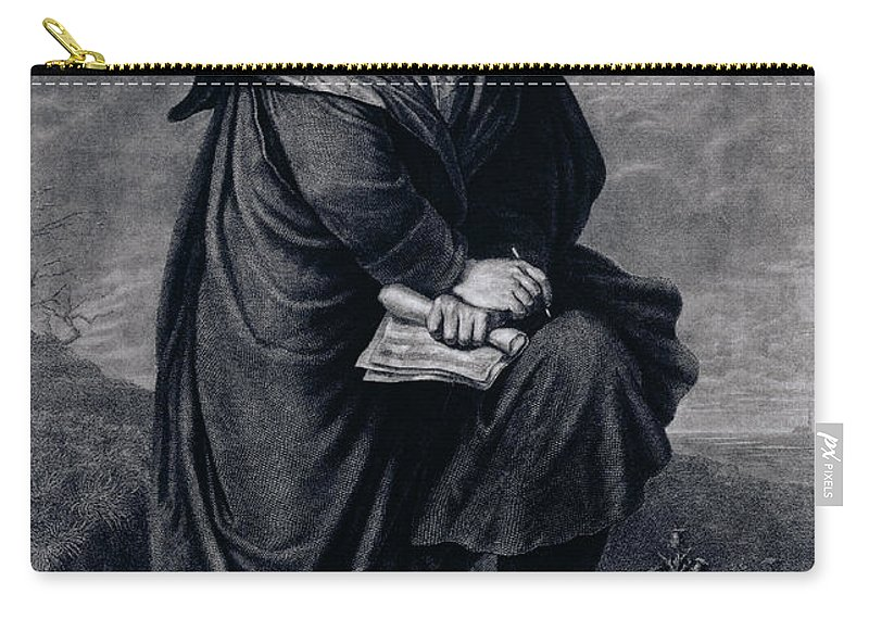 Male Carry-all Pouch featuring the drawing Ludwig Van Beethoven , German Composer by P. Schworer