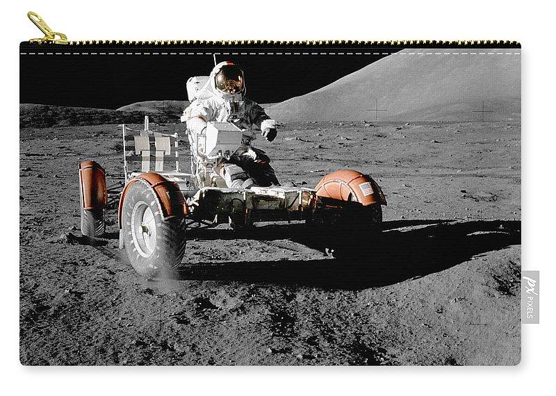 Moon Carry-all Pouch featuring the photograph Lunar Ride by Jon Neidert