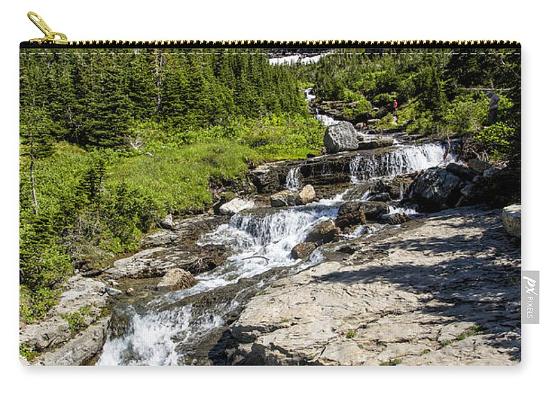 Glacier Carry-all Pouch featuring the photograph Lunch Creek by Timothy Hacker