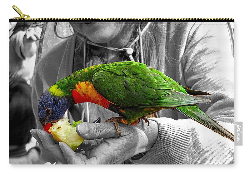 Lories Carry-all Pouch featuring the photograph Lunch Time by C H Apperson