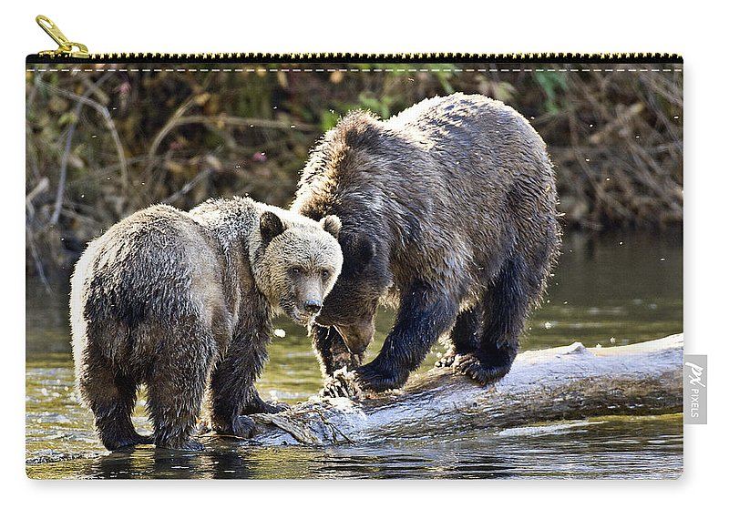 Animals # Carry-all Pouch featuring the photograph Lunch Time by Randy Giesbrecht
