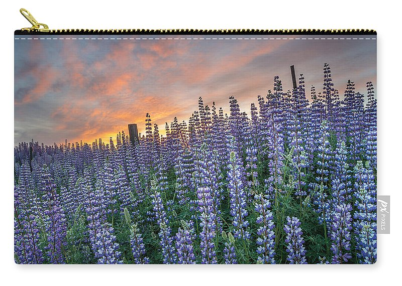 Lupine Carry-all Pouch featuring the photograph Lupine Dawn by Greg Nyquist