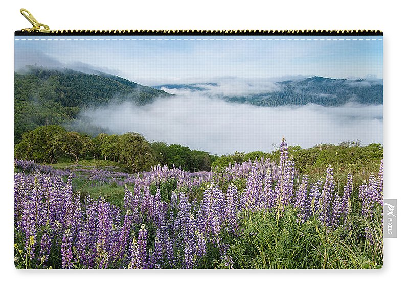 Lupine Carry-all Pouch featuring the photograph Lupine Of Bald Hills by Greg Nyquist