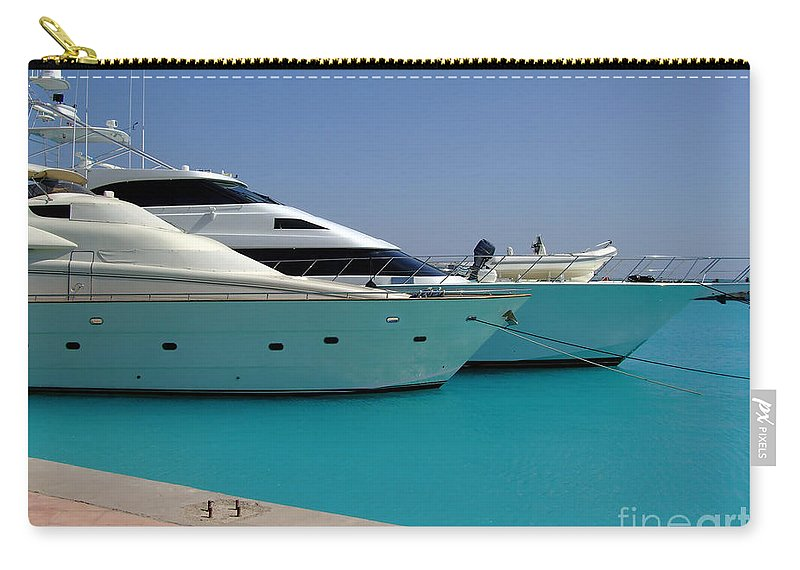 Hurghada Carry-all Pouch featuring the photograph Luxury Yachts 04 by Antony McAulay