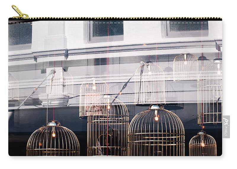 Louis Vuitton Carry-all Pouch featuring the photograph Lv Gilded Cage Bags by Rick Piper Photography