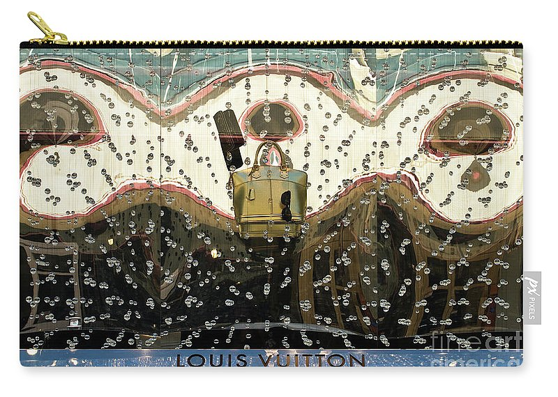 Louis Vuitton Carry-all Pouch featuring the photograph Lv Gold Bag 01 by Rick Piper Photography