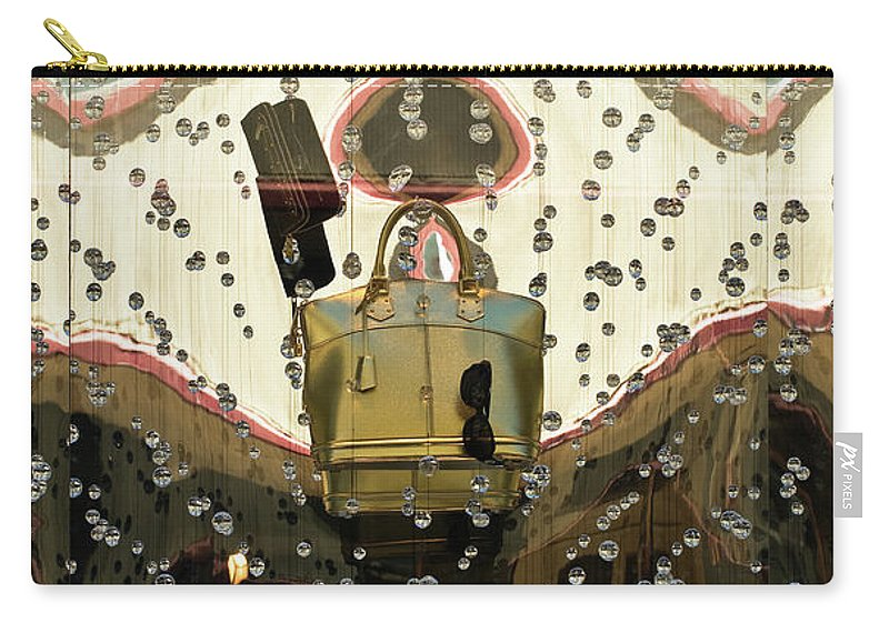 Louis Vuitton Carry-all Pouch featuring the photograph Lv Gold Bag 02 by Rick Piper Photography