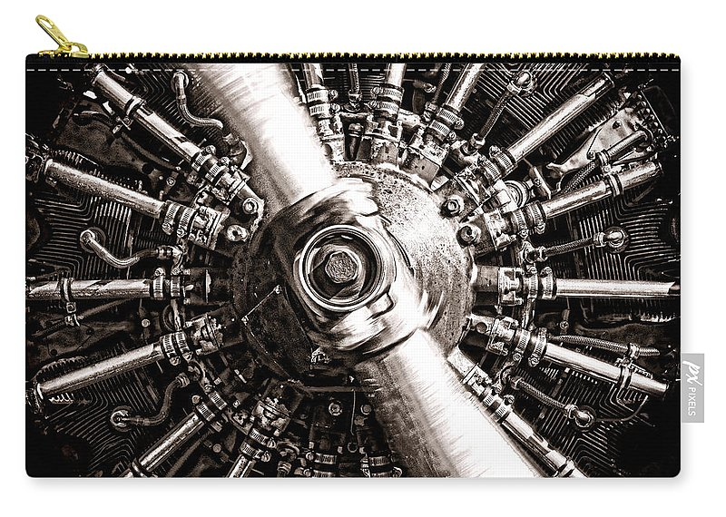 Lycoming Carry-all Pouch featuring the photograph Lycoming by Olivier Le Queinec