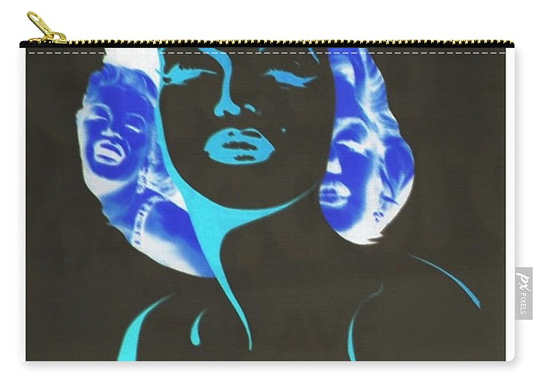 Marilyn Monroe Carry-all Pouch featuring the photograph M M I N N E G A T I V E O R I G I N A L by Rob Hans