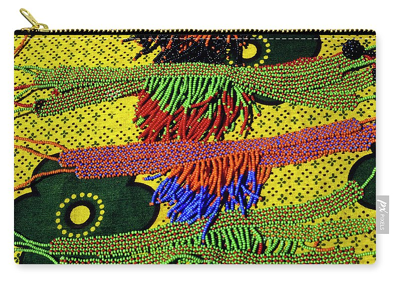 Africa Carry-all Pouch featuring the photograph Maasai Beadwork by Michele Burgess