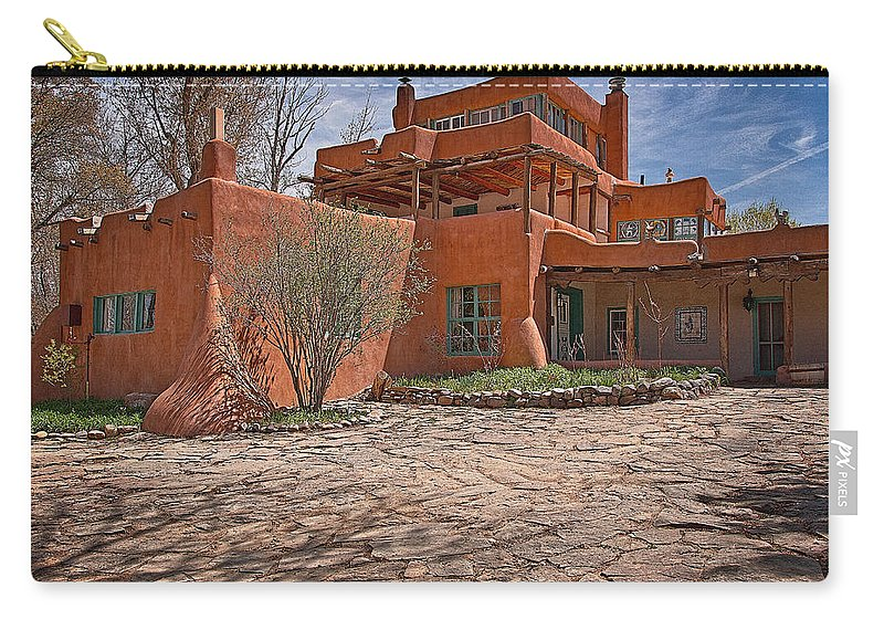 Santa Carry-all Pouch featuring the photograph Mabel Dodge Luhan House by Charles Muhle