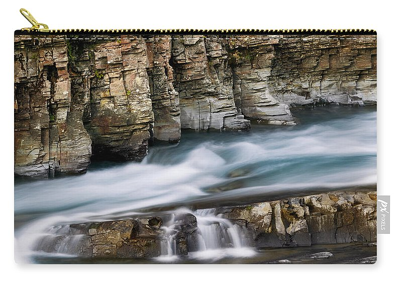 Glacier National Park Carry-all Pouch featuring the photograph Macdonald Creek Falls Glacier National Park by Rich Franco