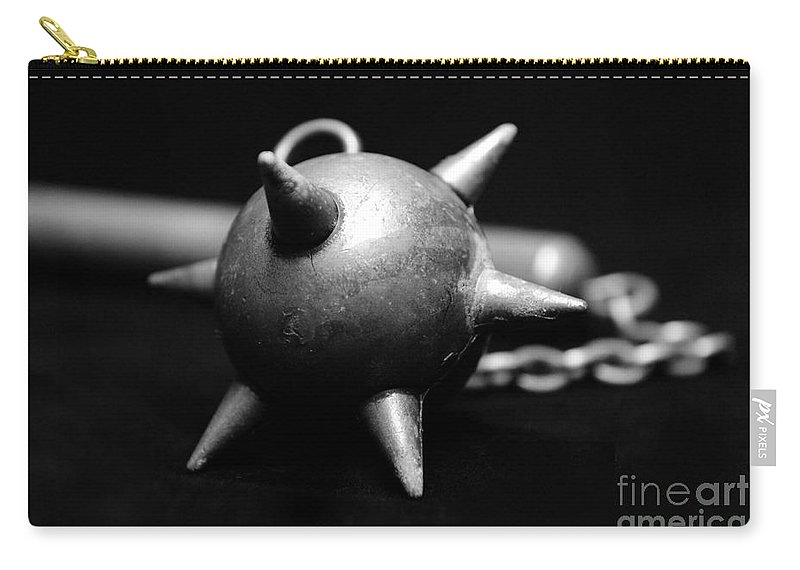 Club Carry-all Pouch featuring the photograph Mace Medieval Weapon by Paul Ward