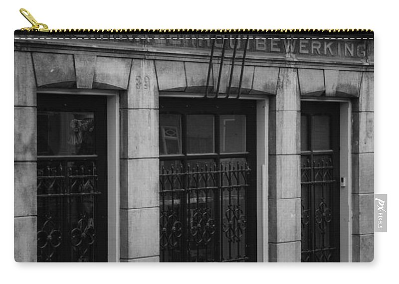 2014 Carry-all Pouch featuring the photograph Machinale Houtebewerking Amsterdam by Teresa Mucha