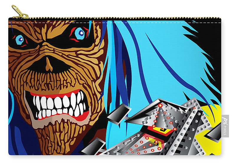 Music Carry-all Pouch featuring the digital art Machine Head-ie by Neil Finnemore