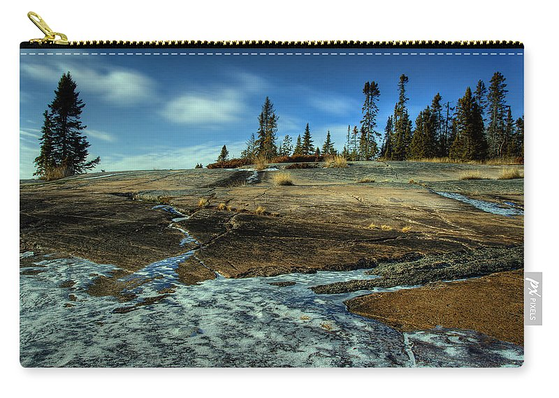 Conservation Area Carry-all Pouch featuring the photograph Mackenzie Point Outcrop by Jakub Sisak