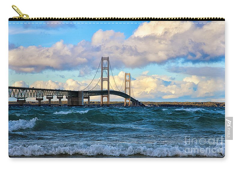 Mackinac Carry-all Pouch featuring the photograph Mackinac Among The Waves by Rachel Cohen