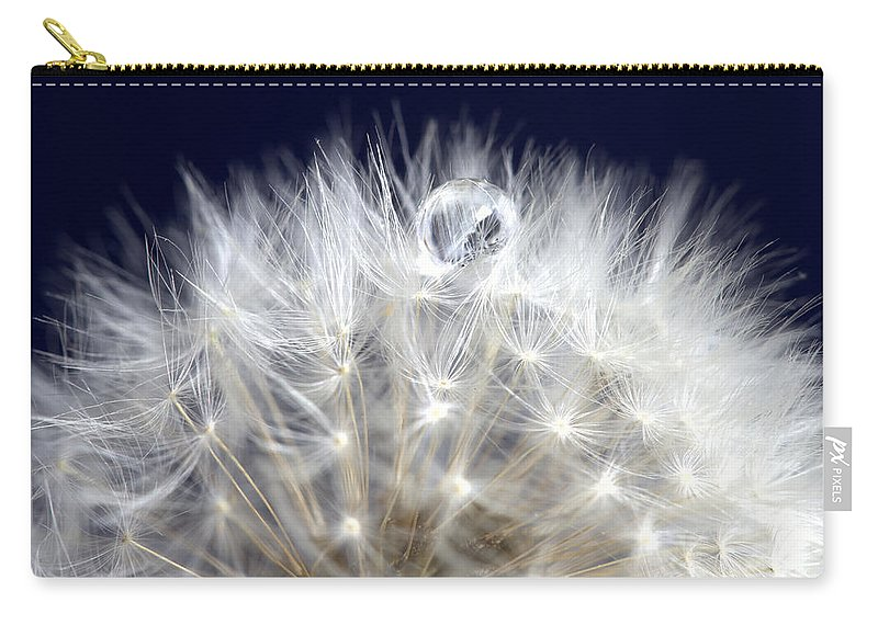 Blossom Carry-all Pouch featuring the photograph Macro Dandelion by Mark Duffy