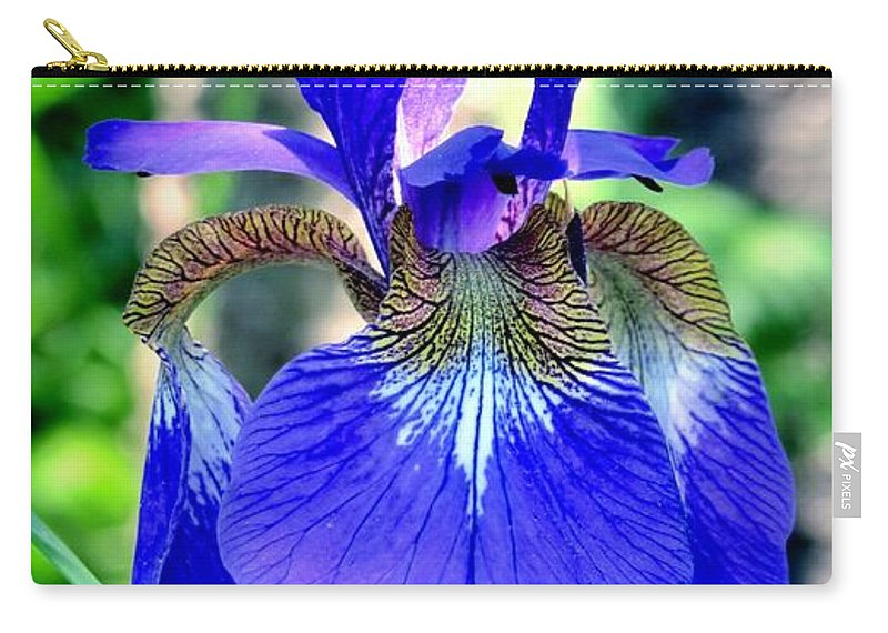Nature Carry-all Pouch featuring the photograph Macro Iris by Art Dingo