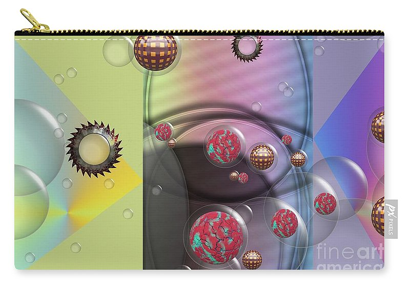 Mad Art Carry-all Pouch featuring the digital art Mad Art by Liane Wright