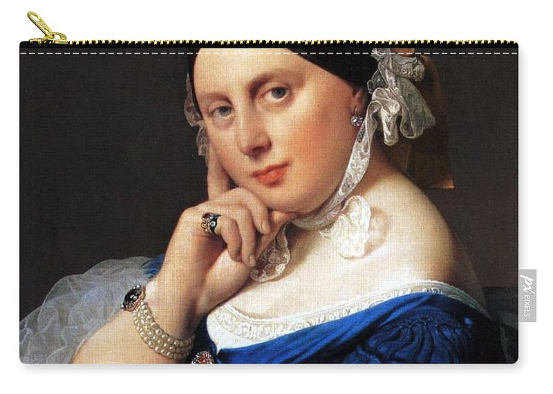 1859 Carry-all Pouch featuring the painting Madame Delphine Ingres by Jean-Auguste-Dominique Ingres