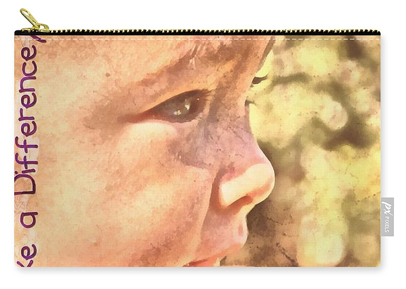 Jesus Carry-all Pouch featuring the digital art Made To Make A Difference by Michelle Greene Wheeler