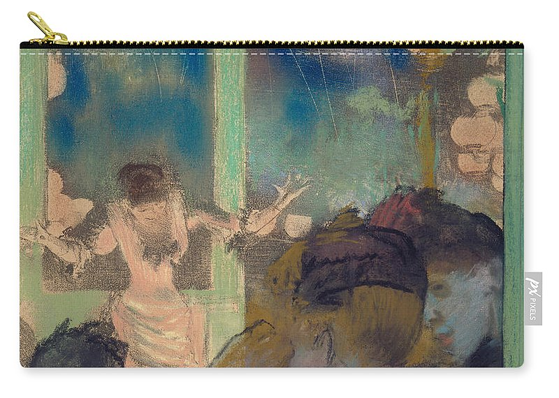 Mademoiselle Becat At The Cafe Des Ambassadeurs Carry-all Pouch featuring the painting Mademoiselle Becat At The Cafe Des Ambassadeurs by Edgar Degas