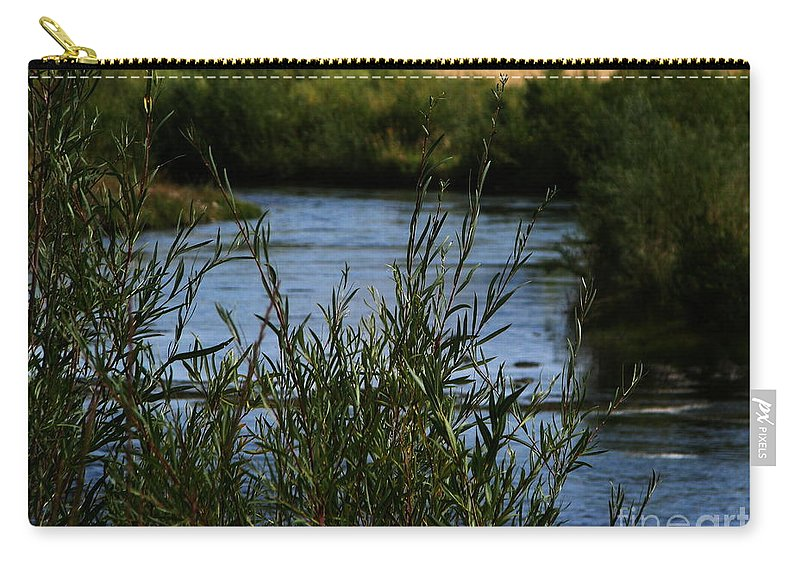 Madison River Carry-all Pouch featuring the photograph Madison River by Greg Patzer