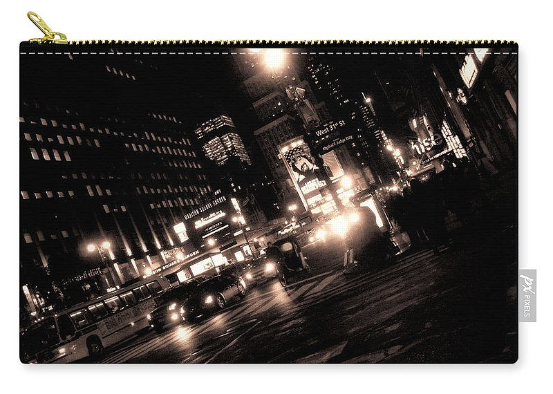 New York Carry-all Pouch featuring the photograph Madison Square Garden by Donna Blackhall