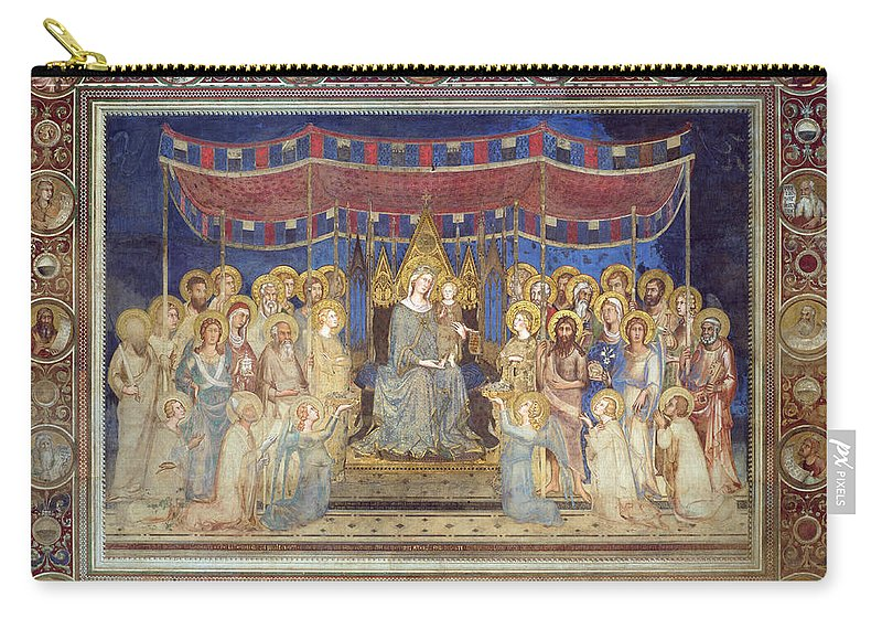 Simone Martini Carry-all Pouch featuring the painting Maesta by Simone Martini