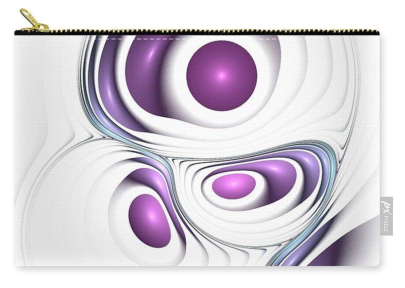 Malakhova Carry-all Pouch featuring the digital art Magenta Creation by Anastasiya Malakhova