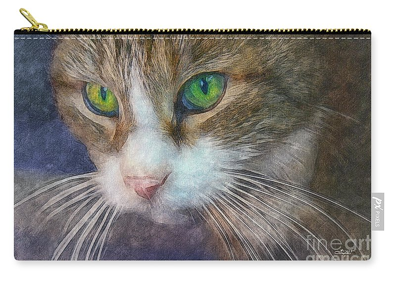 Photo Carry-all Pouch featuring the photograph Magic Eyes by Jutta Maria Pusl