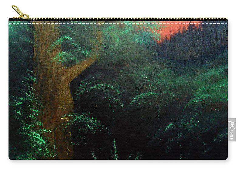 Landscape Carry-all Pouch featuring the painting Magic forest by Sergey Bezhinets