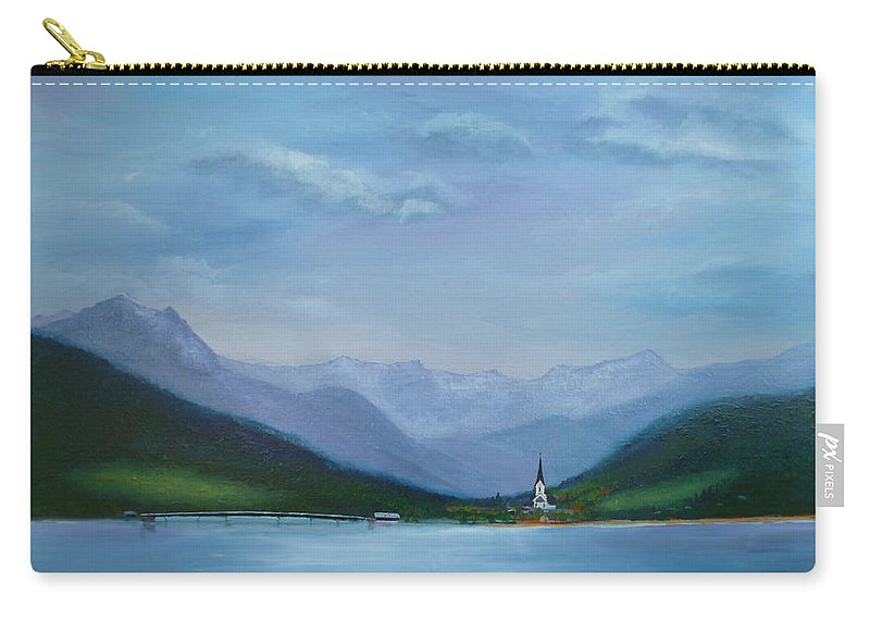 Weissensee Carry-all Pouch featuring the painting Magic Kingdom by Petra Stephens