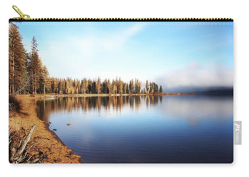 Seeley Lake Carry-all Pouch featuring the photograph Magic On Seeley Lake by Janie Johnson